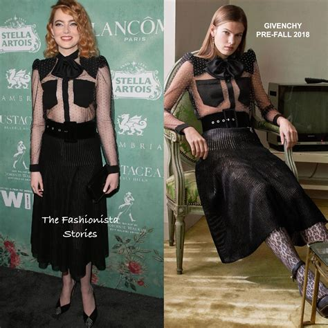 Emma Stone In Givenchy At The 11th Women In Film Pre-oscar
