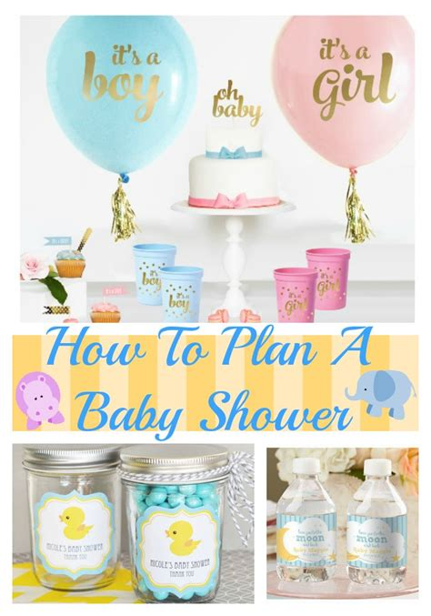 how to plan a baby shower ow to plan a baby shower tips