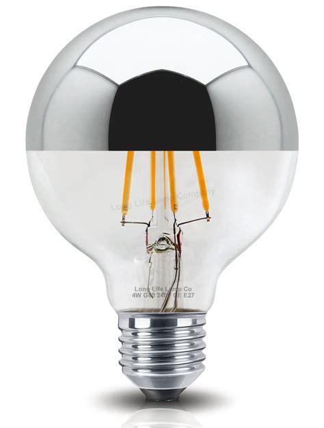 light bulb led bulbs silver crown mirror globe unique g80 e27 4w