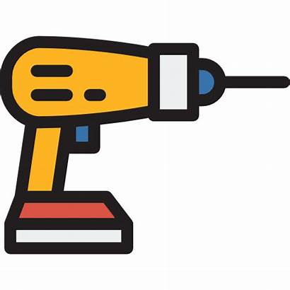 Tools Construction Drill Clipart Drilling Icon Icons
