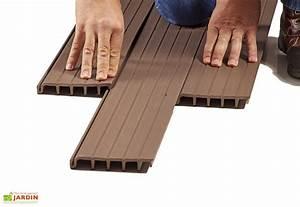 Lame De Terrasse En Composite : lames de terrasse composite emboiter taupe blitz decking ~ Dailycaller-alerts.com Idées de Décoration