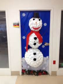 Winter Wonderland Christmas Office Door Decorating