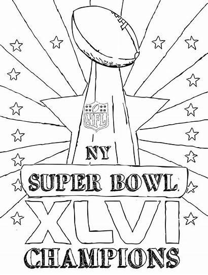 Trophy Bowl Coloring Super Pages Patriots England
