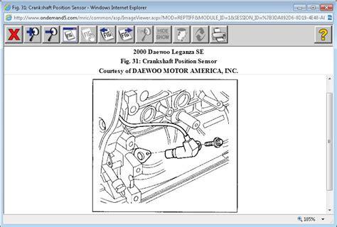 book repair manual 1999 daewoo leganza lane departure warning how to replace 2000 daewoo lanos crank angle sensor 1999 daewoo lanos electrical parts