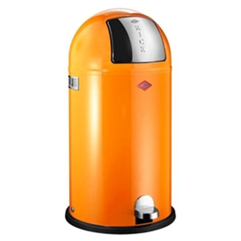 orange accessories for kitchen wesco kickboy kitchen bin orange 40lt wes 177731 25 3757
