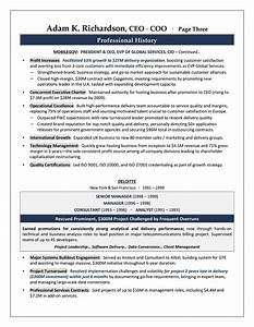ceo coo sample resume executive resume writer With coo resume template word