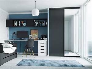 Porte Coulissante Miroir Placard : portes de placard coulissantes de chambre sur mesure ~ Melissatoandfro.com Idées de Décoration