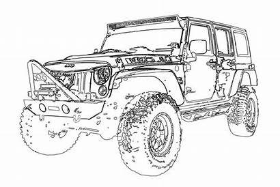 Jeep Wrangler Unlimited Conversion Template Mountain Coloring