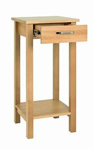 Torino, Beech, Side, Table, With, Drawer, 30429
