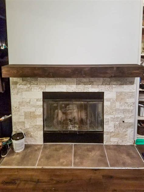 diy fireplace mantel build your own rustic fireplace mantel domestically speaking