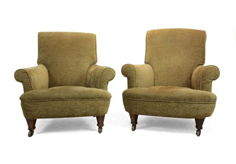 Pair Of Victorian Upholstered Armchairs