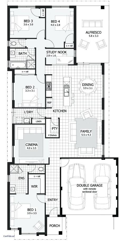 single story duplex plans  narrow lots latavia house