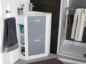 40 meubles pour une petite salle de bains elle decoration With petit meuble salle de bain castorama