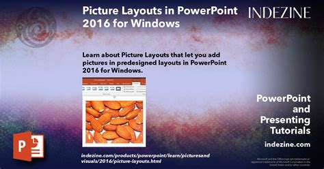 Picture Layouts in PowerPoint 2016 for Windows