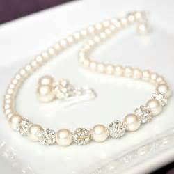 pearl wedding ring sets bridal jewelry set swarovski bridal jewelry set rhinestone