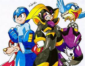 Megaman And Bass By Mikees On Deviantart