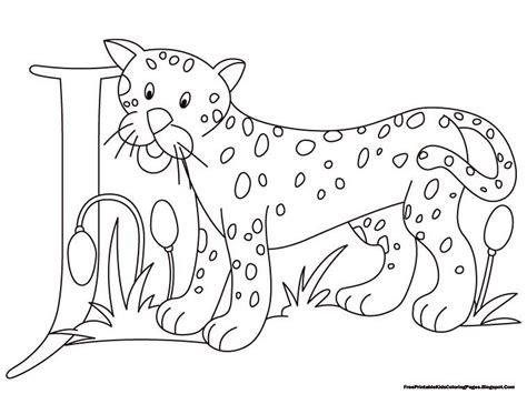 jaguar alphabet coloring pages printable  printable