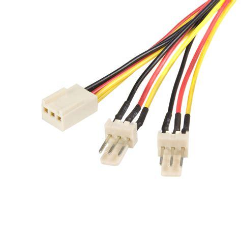 cpu fan adapter cable startech com 12in 30cm tx3 fan power splitter cable