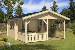 Gartenhauser mit uberdachter terrasse oder veranda kaufen for Gartenhaus mit überdachter terrasse