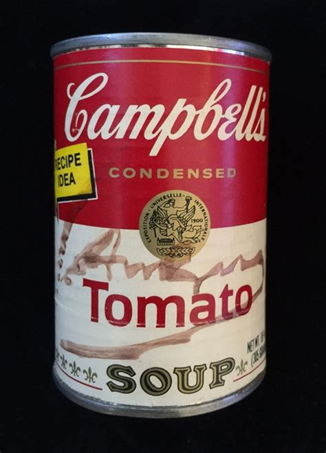 Cbell Tomato Soup Andy Warhol signed cbell s tomato soup can by andy warhol on artnet