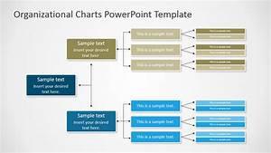 Horizontal Orgchart Powerpoint Diagram