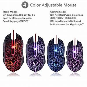 Bluefinger Led Backlit Glowing Keyboard Programmable Gaming Mouse Mouse Pad And Headset Set