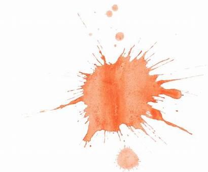 Splatter Watercolor Orange Transparent Splash Background Onlygfx