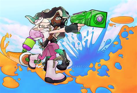 Splatoon 2 Pearl And Marina By Scotchi On Deviantart