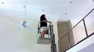How to replace high ceiling light bulb paint and