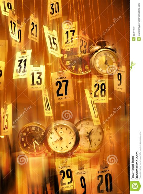 Abstract Calendar Clocks Time Background Stock Photo ...