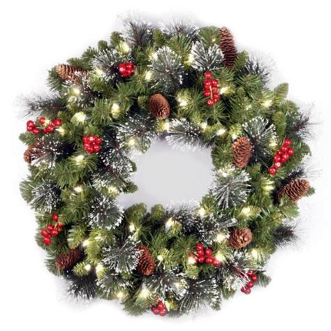 beautiful battery operated christmas wreaths