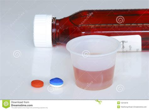 Take Some Medicine To Heal The Flu Royalty Free Stock