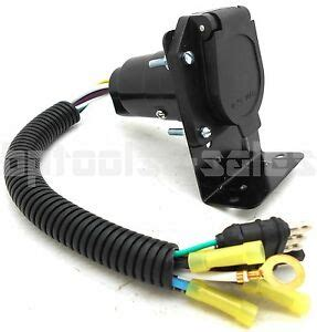 Wire Flat Way Trailer Light Plug Harness
