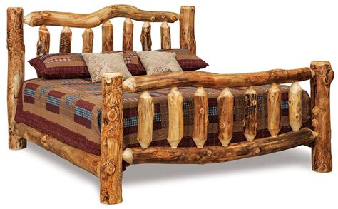 king size bed frames for sale amish rustic log bed from dutchcrafters amish furniture
