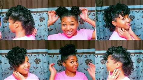 quick easy hairstyles  relaxed hair youtube