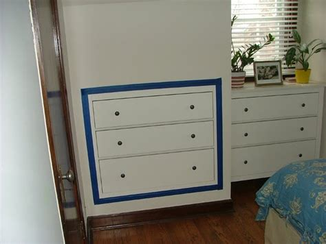 space saving  drawer chest inset  plasterboard