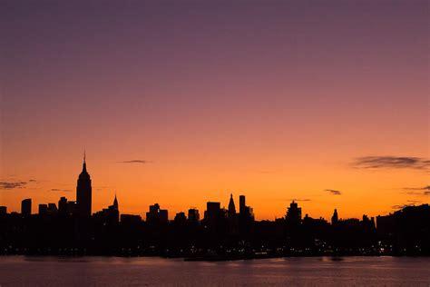 york city skyline sunrise photograph  stephanie mcdowell