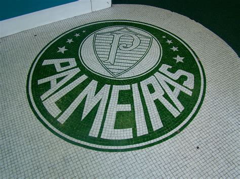 Mosaico simbolo do Palmeiras pastilhas de vidro da Vitrus ...