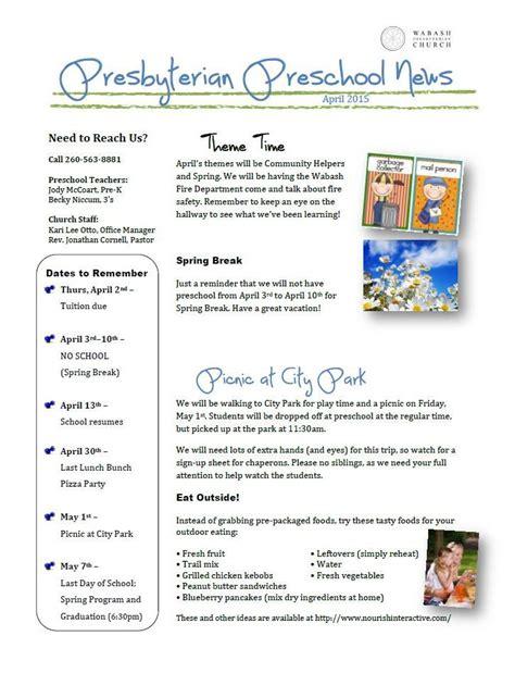 preschool april newsletter preschool newsletter april 2015 171 wabash presbyterian church 477