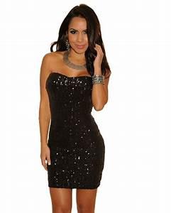 Roxita.com Official Site - Sparkle Sequined Strapless Mini ...