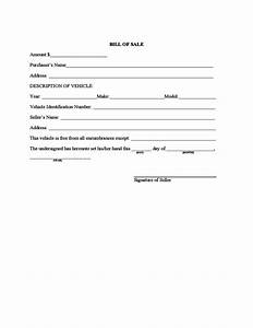 Bill Of Sale Form Automobile Sample Vehicle Bill Of Sale Form Free Download