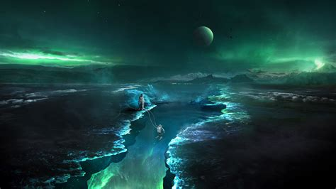astronaut space digital art fantasy hd artist