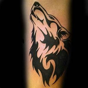 Tribal Wolf Tattoo : 50 tribal wolf tattoo designs for men canine ink ideas ~ Frokenaadalensverden.com Haus und Dekorationen