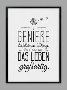 Gib Oder Geb : genie e das leben kunstdruck von smart art kunstdrucke auf drucke spr che ~ Orissabook.com Haus und Dekorationen
