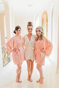 Wedding gift bridesmaid robes coral wedding robe peach for Bridesmaid robes
