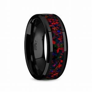 men39s wedding rings men39s rings by style inlaid opal With mens opal wedding rings