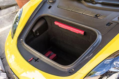 porsche trunk first drive porsche 718 cayman racing yellow in south