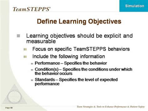 using simulation in teamstepps classroom slides