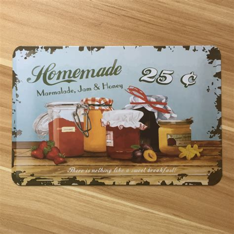 plaque metal cuisine metal tin signs jam kitchen wall painting vintage