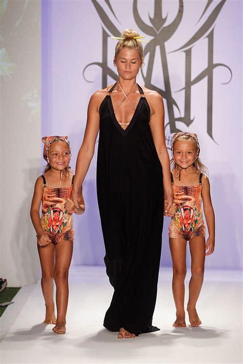 Little Girls Model Bikinis On Runway For Hot As Hell Swimwear